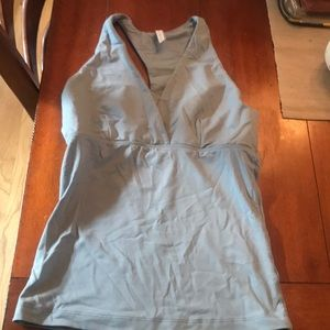 Baby blue soft size medium yoga top or workout top